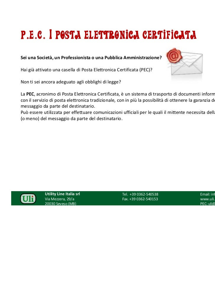 PEC | Posta Elettronica Certificata