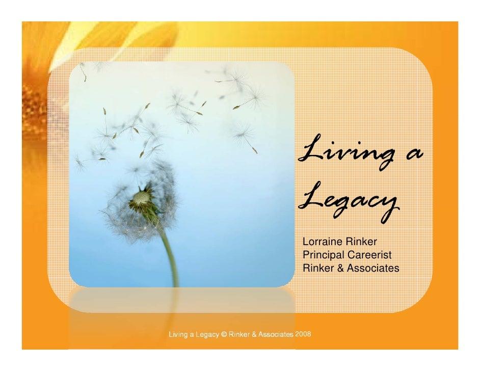 Pecha Kucha   Living A Legacy   Pbwc 2008 V2