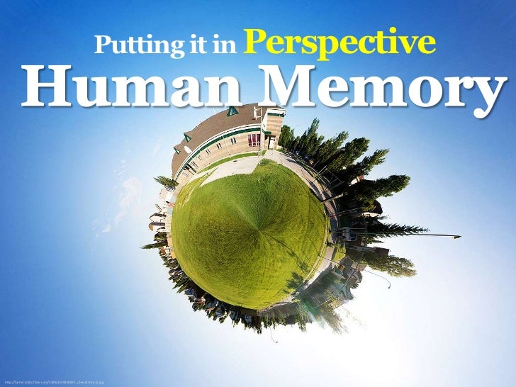 Putting it in Perspective <br />Human Memory<br />http://farm4.static.flickr.com/3189/2670800695_c2ee123c5d_b.jpg<br />