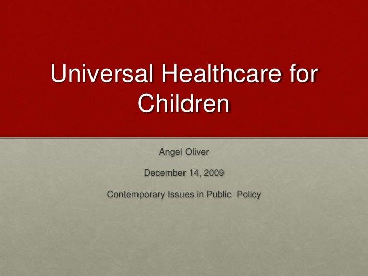 Universal Healthcare for Children