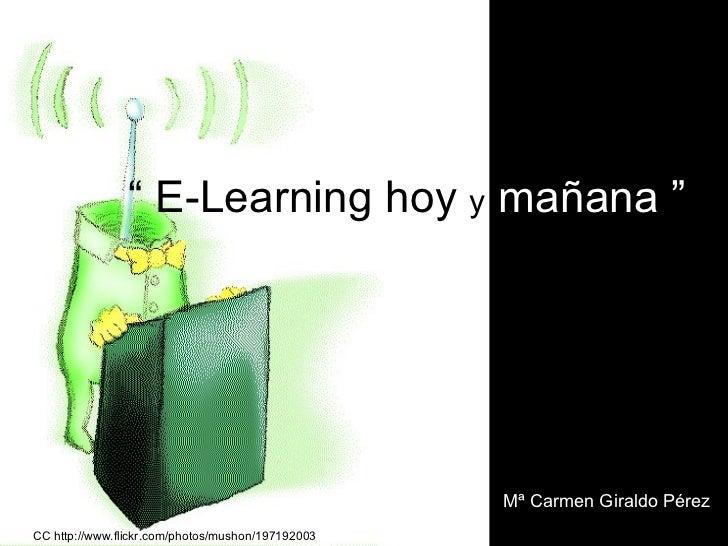 E-LEARNING HOY Y MAÑANA