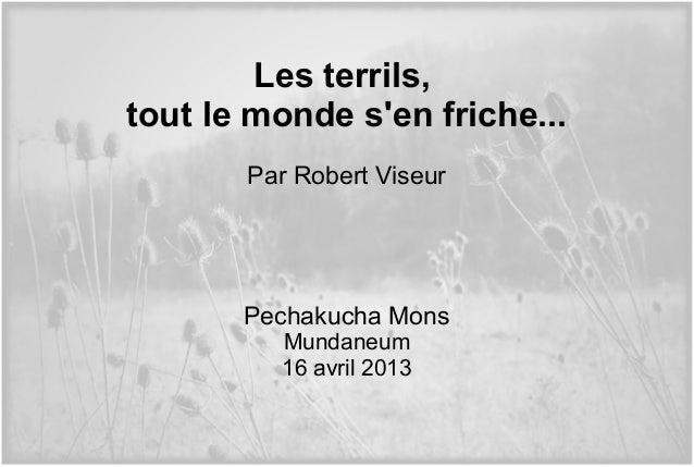 Les terrils,tout le monde sen friche...Par Robert ViseurPechakucha MonsMundaneum16 avril 2013