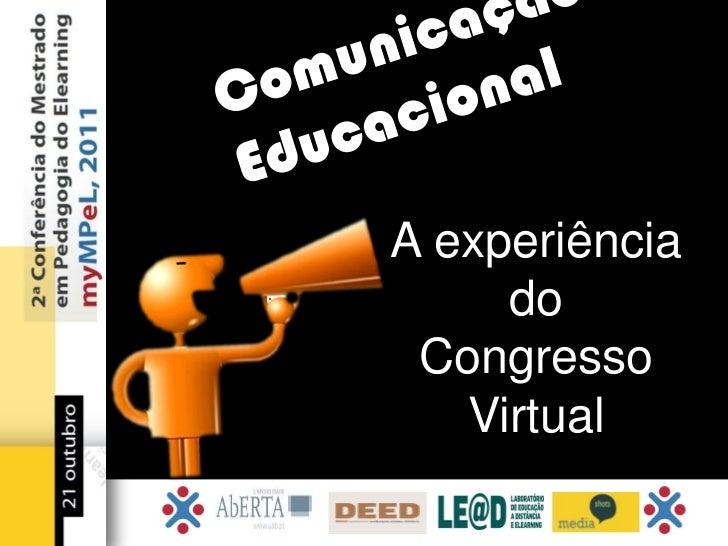 A experiência     do Congresso   Virtual