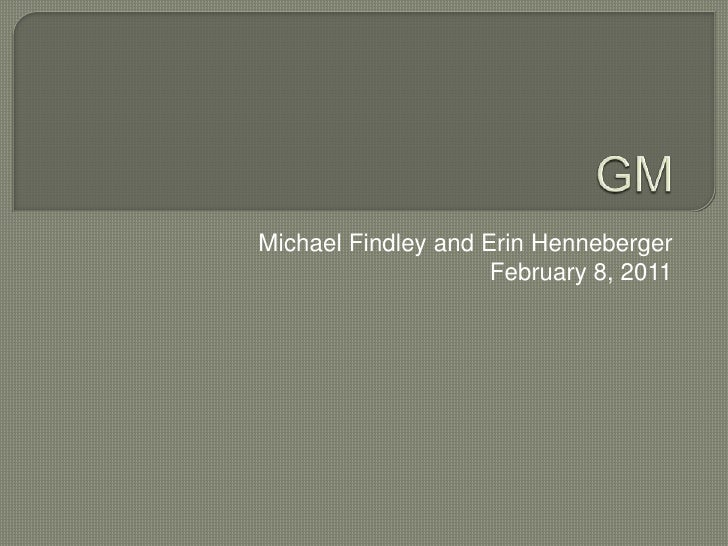 GM<br />Michael Findley and Erin Henneberger<br />February 8, 2011<br />