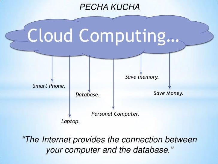 PECHA KUCHA Cloud Computing…                                  Save memory.  Smart Phone.                 Database.        ...