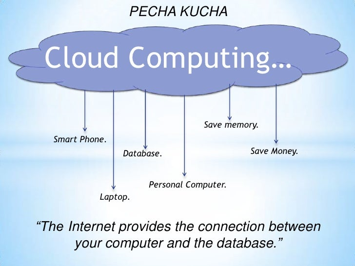 Pecha kucha - Cloud Computing