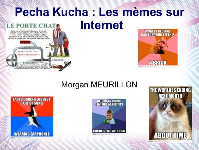 Pecha Kucha : Les mèmes sur          Internet       Morgan MEURILLON