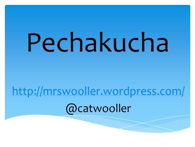 Pechakucha presentation
