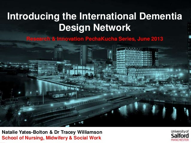 Introducing the International Dementia Design Network, Nathalie Yates-Bolton and Dr Tracey Williamson