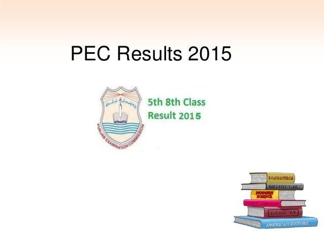 PEC Results 2015