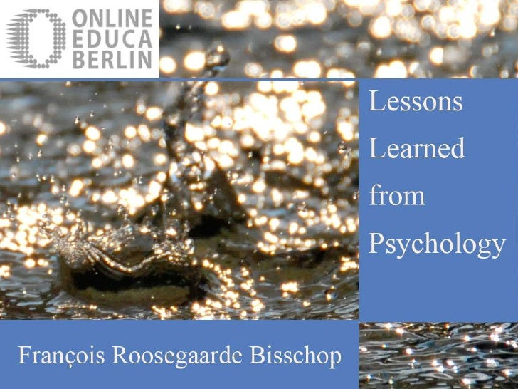 Ped 44 Lessons Learned from Psychology