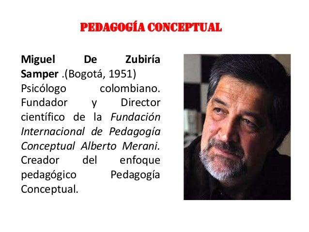 PEDAGOGÍA CONCEPTUALMiguel       De      ZubiríaSamper .(Bogotá, 1951)Psicólogo       colombiano.Fundador      y     Direc...