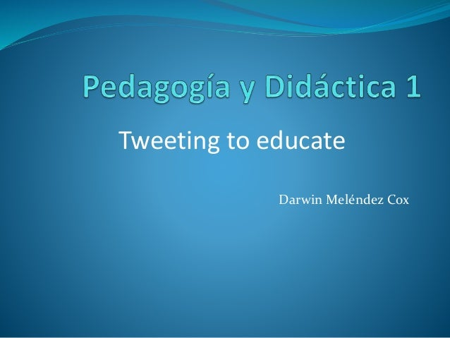 Darwin Meléndez Cox Tweeting to educate