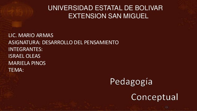 UNIVERSIDAD ESTATAL DE BOLIVAR                  EXTENSION SAN MIGUELLIC. MARIO ARMASASIGNATURA: DESARROLLO DEL PENSAMIENTO...