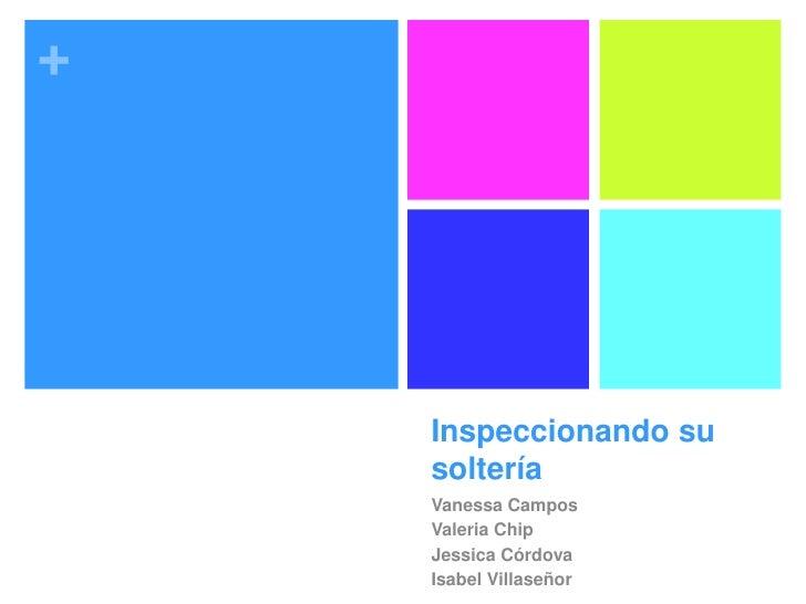 +    Inspeccionando su    soltería    Vanessa Campos    Valeria Chip    Jessica Córdova    Isabel Villaseñor