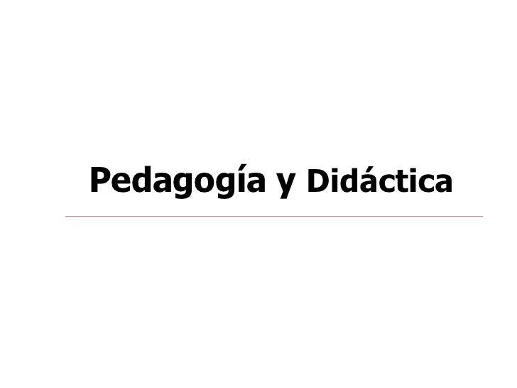 Pedagogia Y Didactica
