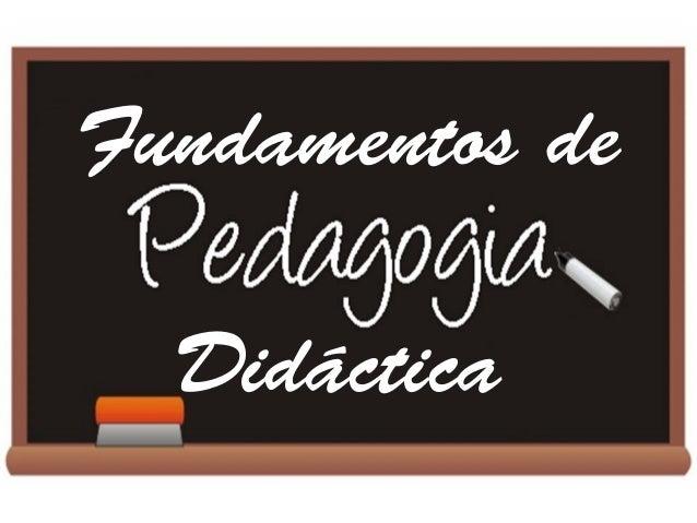 Pedagogia y educacin