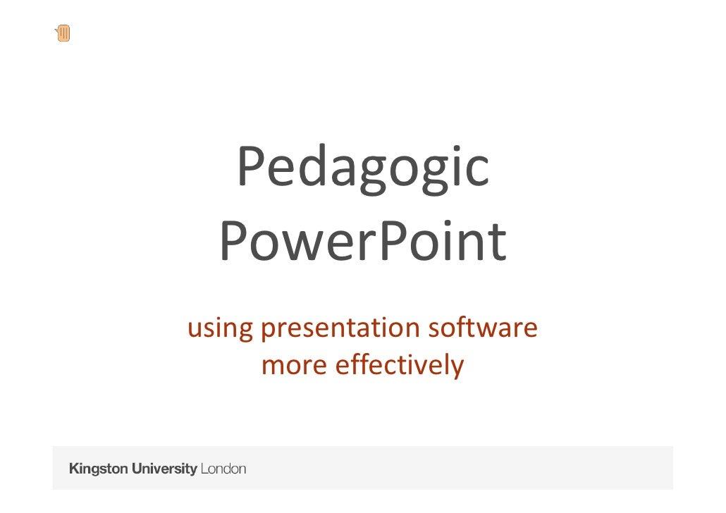 Pedagogic PowerPoint