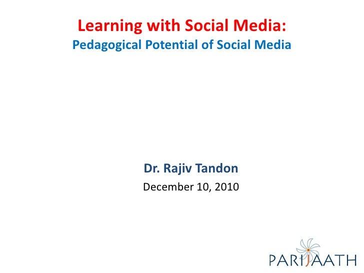 Pedagogical  Potential Of  Social Media