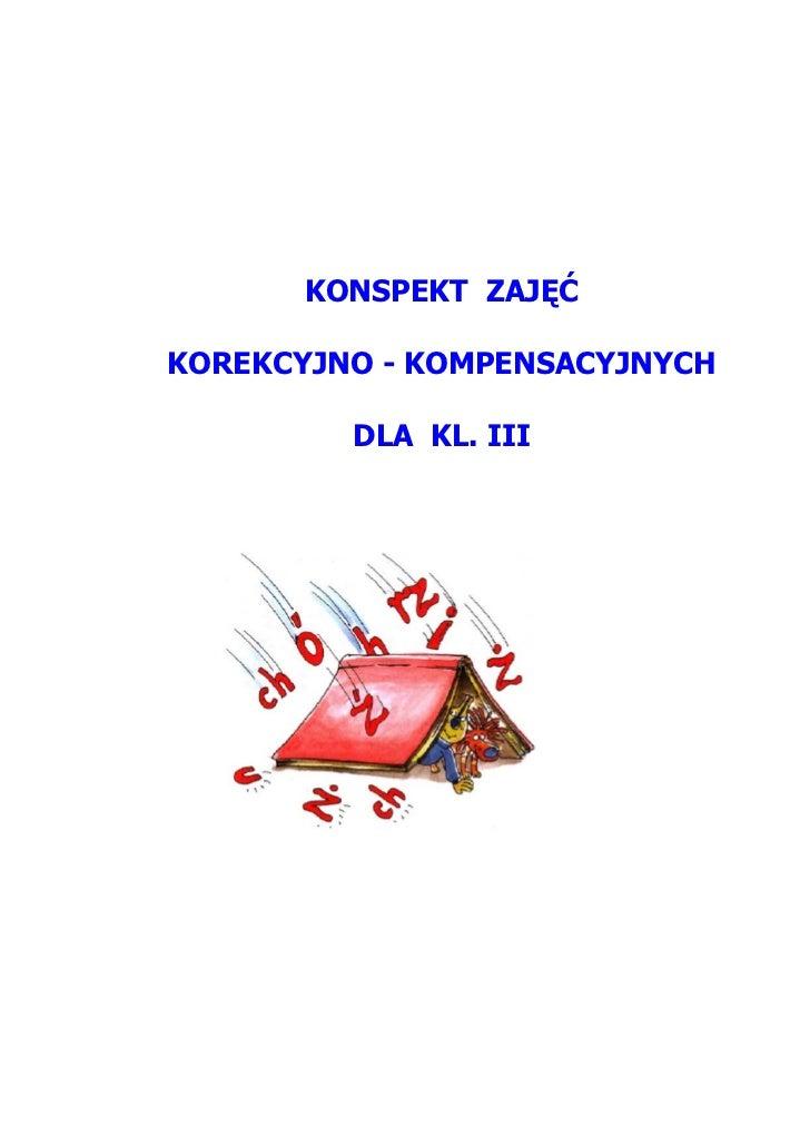 """Pedagogika - zajęcia korekcyjno-kompensacyjne kl.3 (pisownia """"ó"""")"""