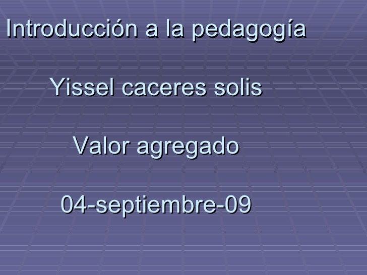 Pedagogogos Sep 5 Yissel