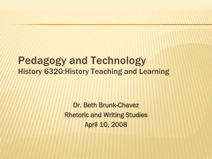 Pedagogy And Technology