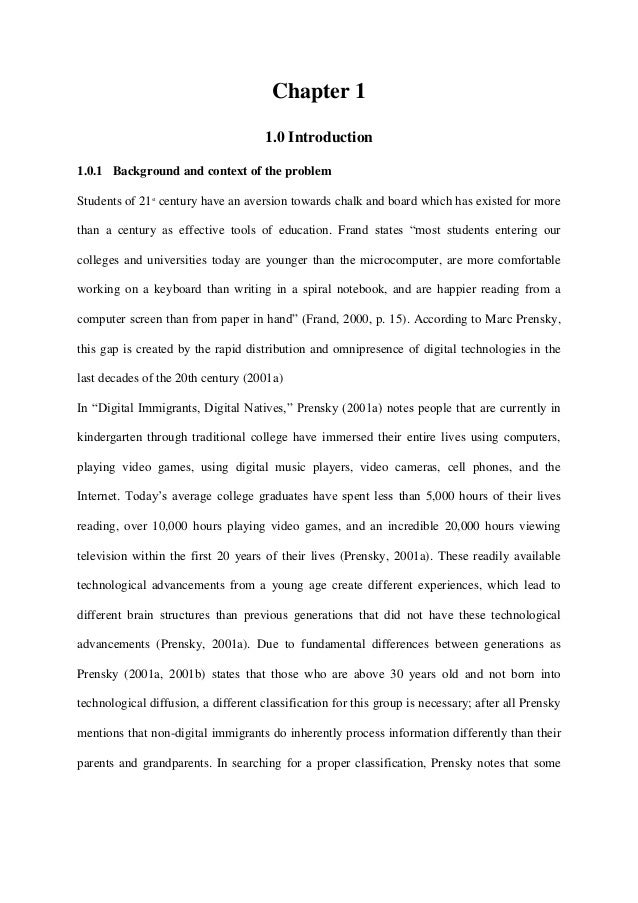 Chapter 1                                      1.0 Introduction1.0.1 Background and context of the problemStudents of 21st...