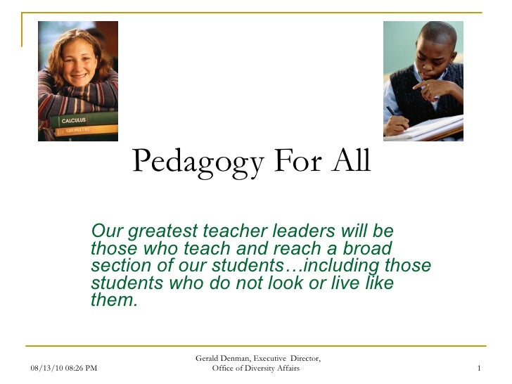 Pedagogy for all aug 30 2010 supplemental day