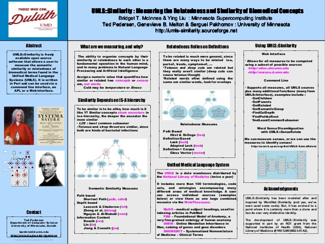 Poster Design & Printing by Genigraphics®- 800.790.4001Ted PedersenDepartment of Computer ScienceUniversity of Minnesota, ...