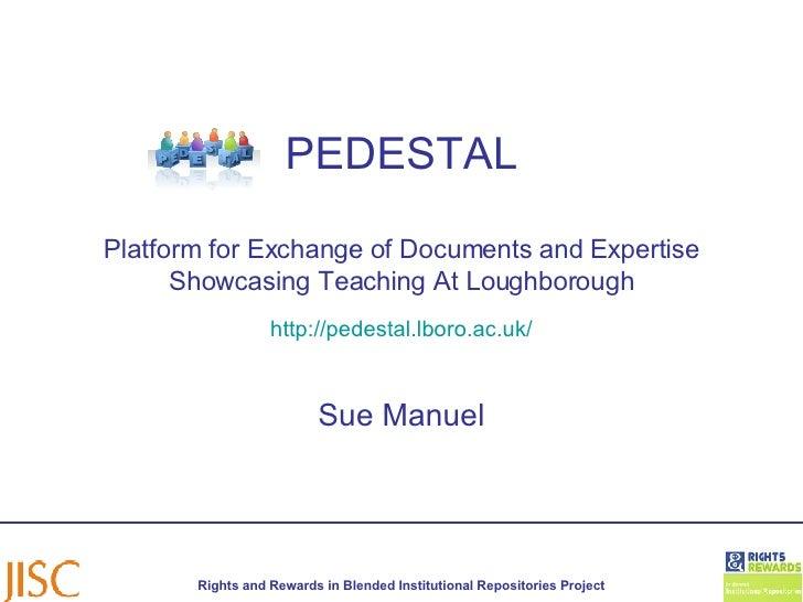 Pedestal Outline