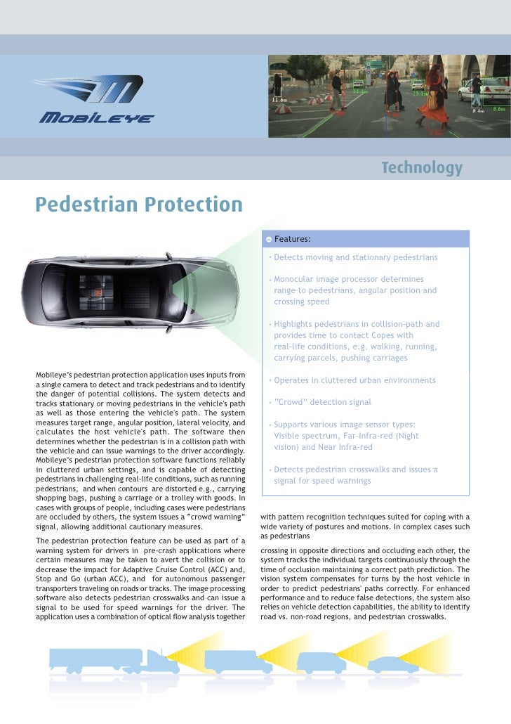 Pedestrian Detection Technology - Brochure