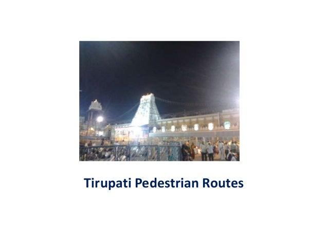 Tirupati Pedestrian Routes