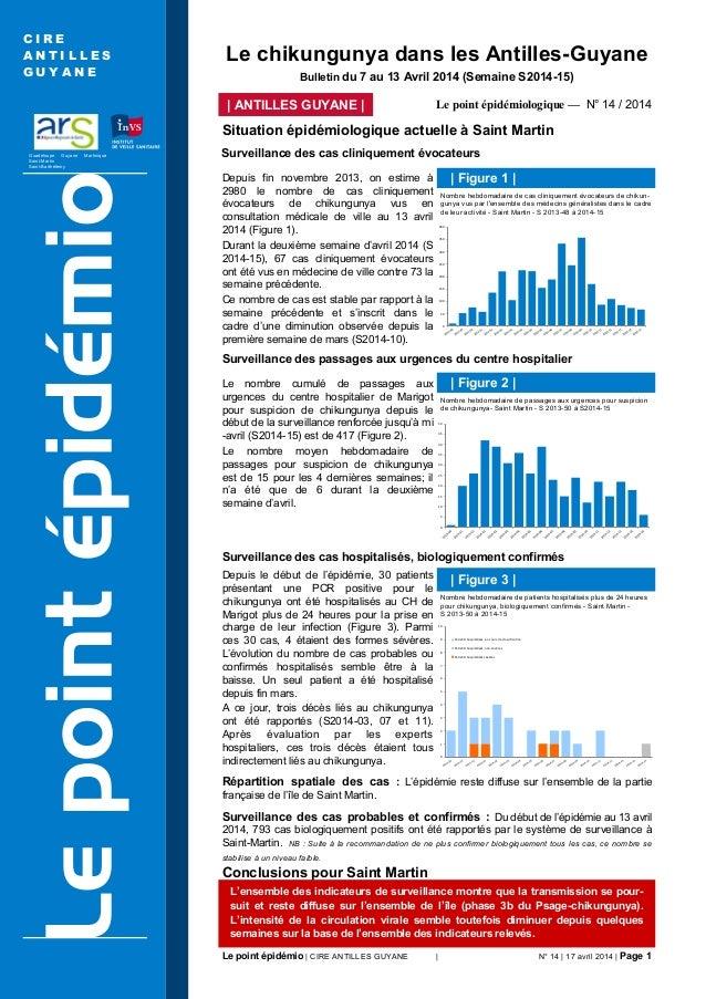 Le point épidémio | CIRE ANTILLES GUYANE | N° 14 | 17 avril 2014 | Page 1 Guadeloupe Guyane Martinique Saint-Martin Saint-...