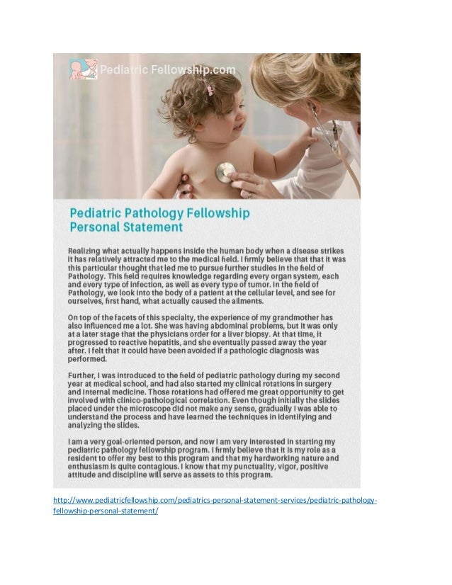 pediatric radiology personal statement