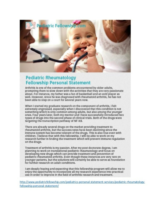 pediatric surgery fellowship personal statement Find the right fit – academic vs clinical-based fellowship programs the primary objective of any type of vascular surgery training.