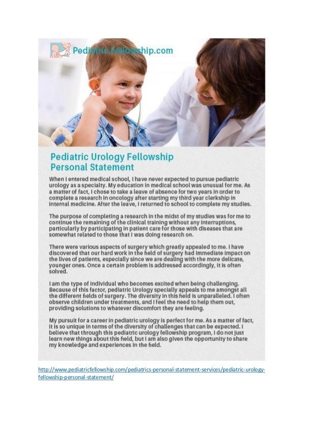 Pediatrics personal statement