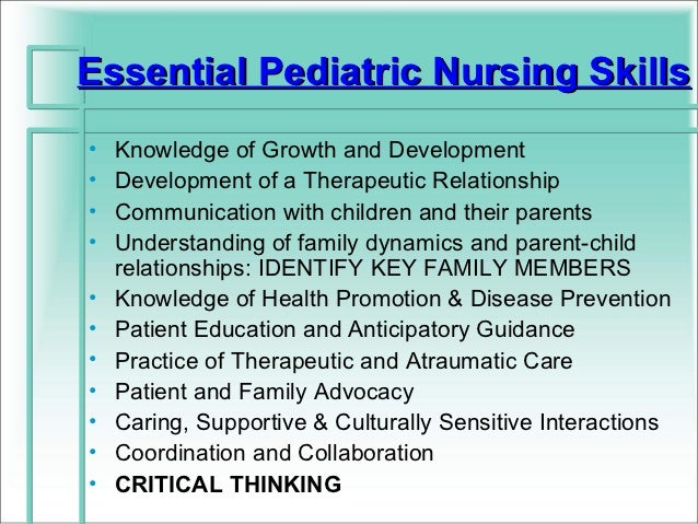 Importance of critical thinking skills in nursing