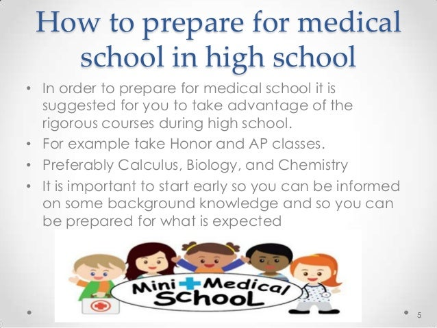 What should I take in high school to prepare for a medical degree?