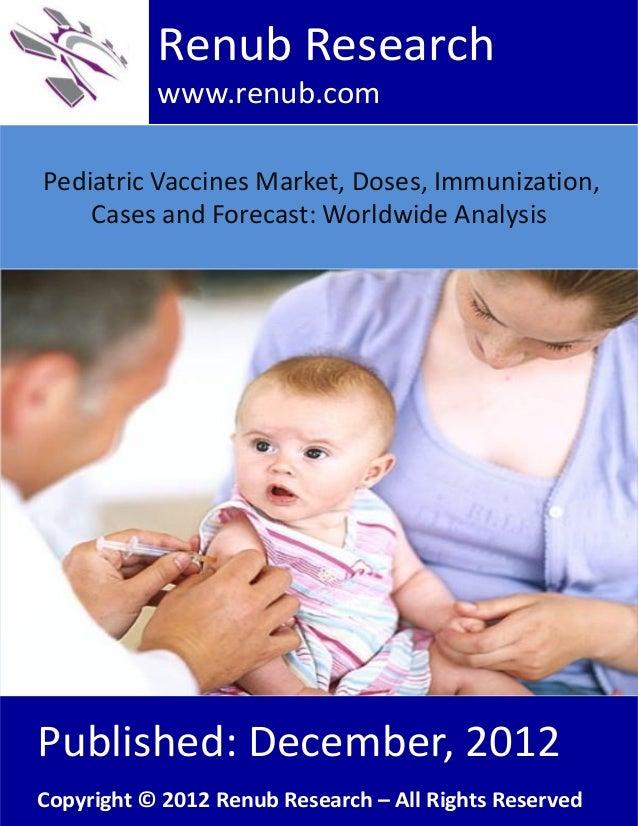 Pediatric Vaccines Market, Doses, Immunization,Cases and Forecast: Worldwide AnalysisRenub Researchwww.renub.comPublished:...