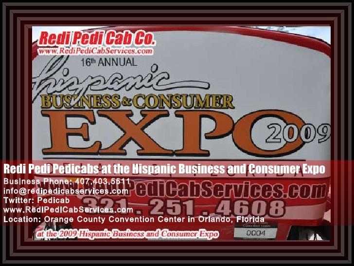Pedicabs At Hispanic Business And Consumer Expo