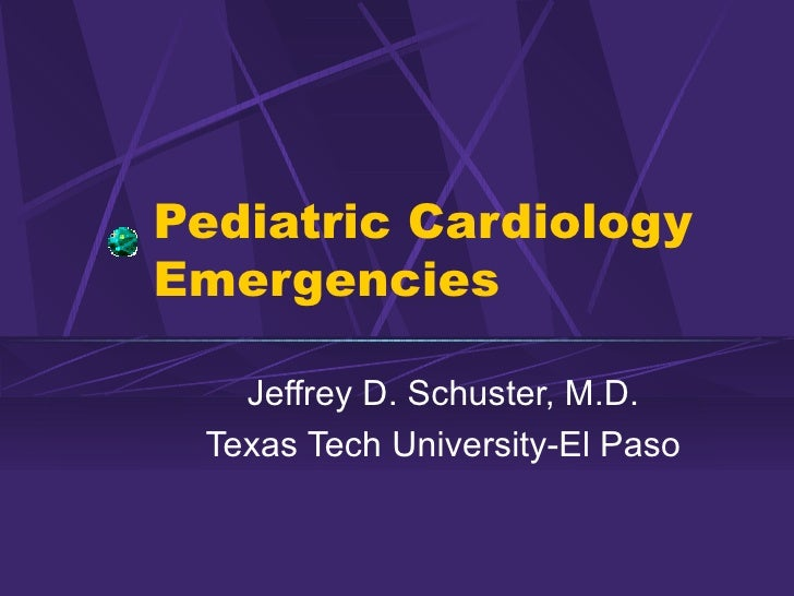 Pediatric Cardiology Emergencies