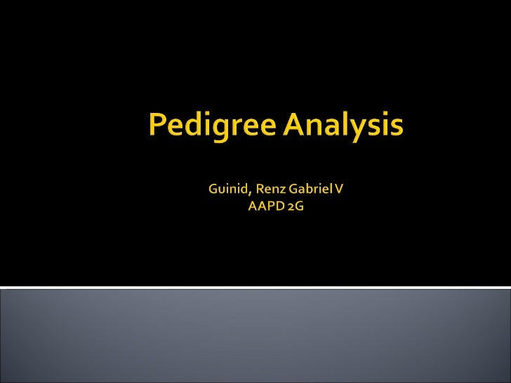 Pedigree Analysis A pedigree is a diagram of family relationships  that uses symbols to represent people and lines to  re...