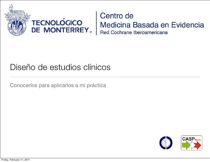 Distintos diseños de estudios clínicos