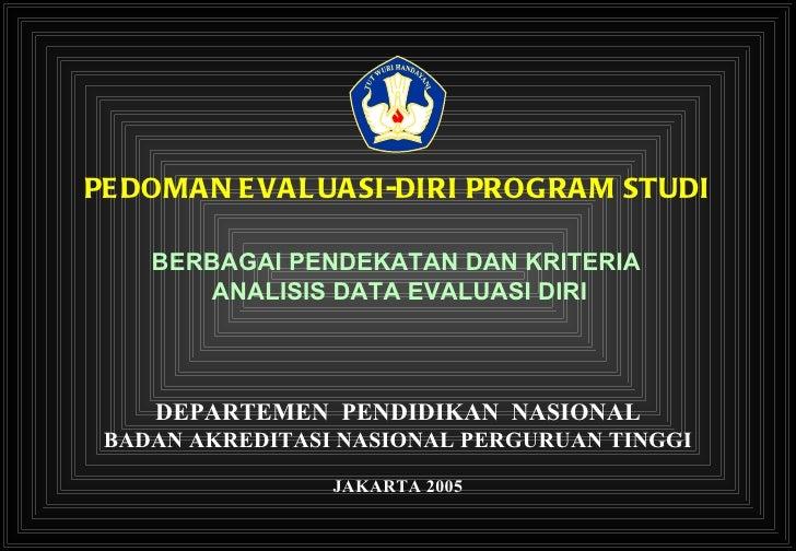 Pedoman evaluasi diri program studi