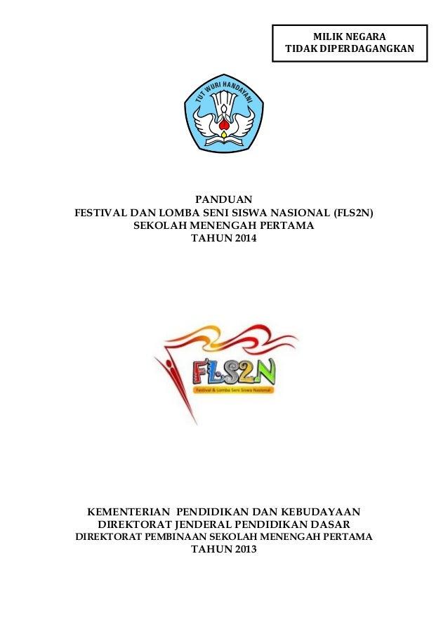 Pedoman FLSSN SMP Tahun 2014