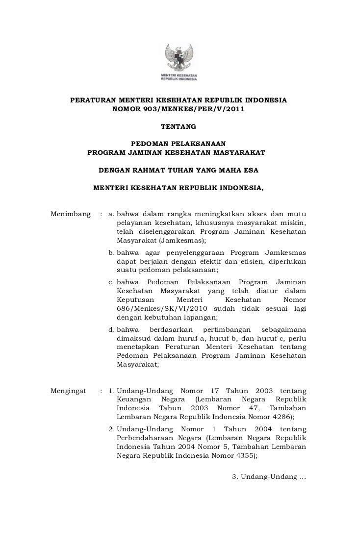 Pedoman pelaksanaan jamkesmas 2011 new