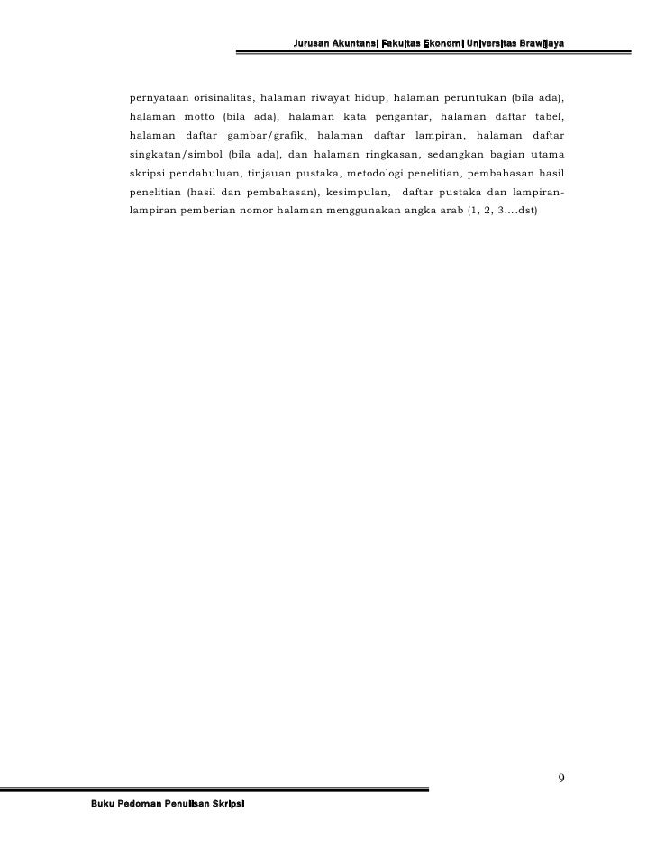 Pedoman Skripsi Jur Akuntansi