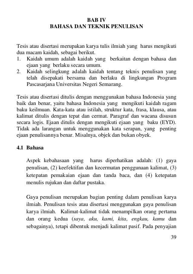 penulisan tesis bab 4