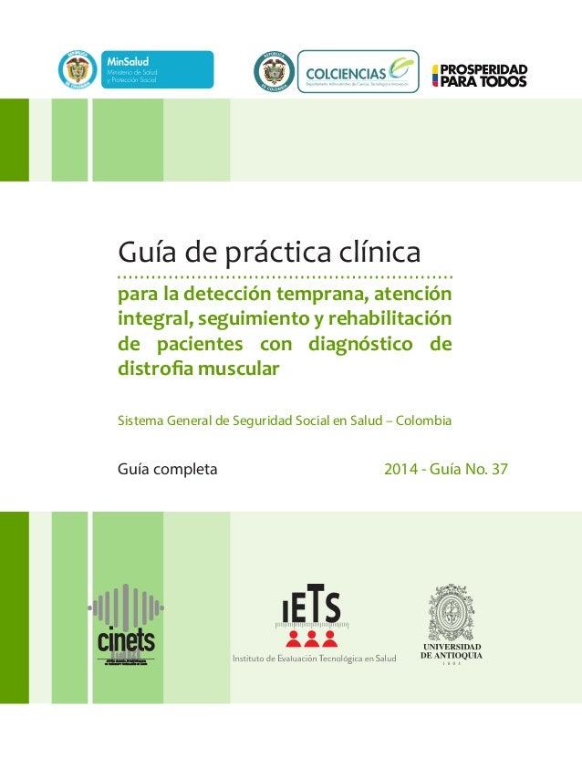 Guía completa 2014 - Guía No. 37 para la detección temprana, atención integral, seguimiento y rehabilitación de pacientes ...