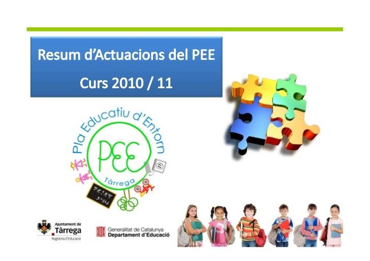 Totes les activitats que es duen a terme des del Pla Educatiud'Entorn s'inclouen dins d'algun d'aquest blocs, segons elsob...